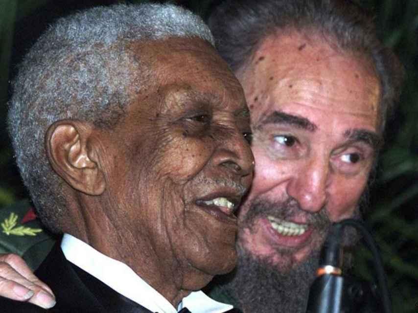 Compay Segundo y Fidel Castro.