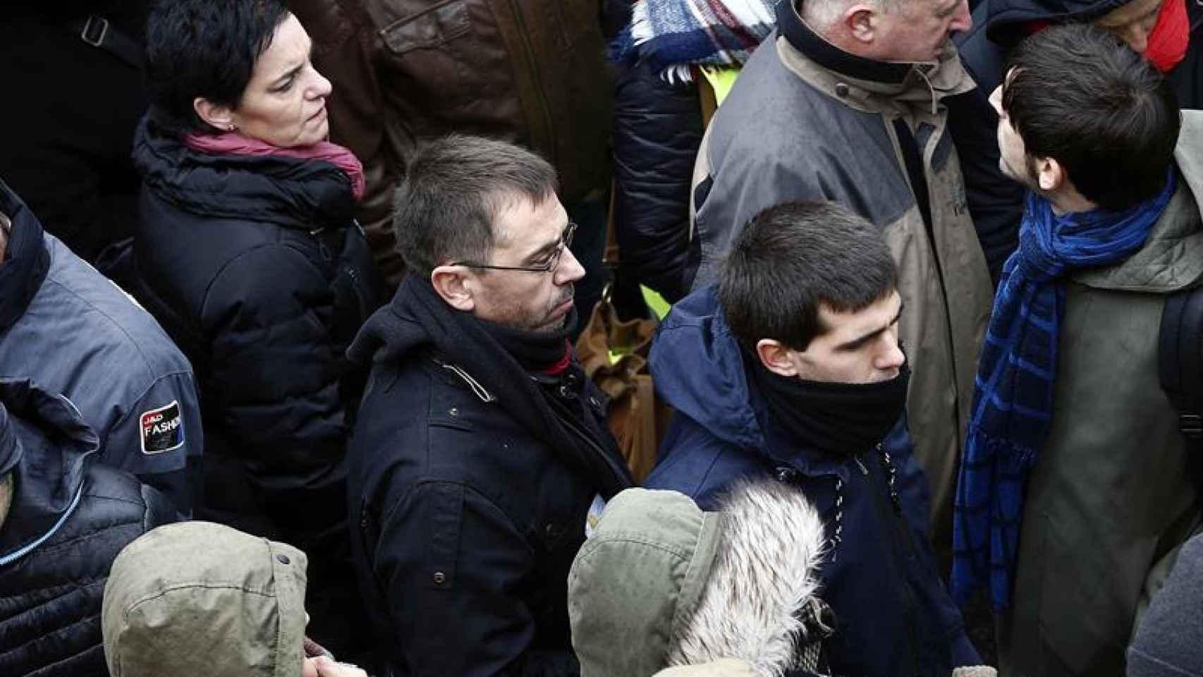 Monedero durante la manifestación