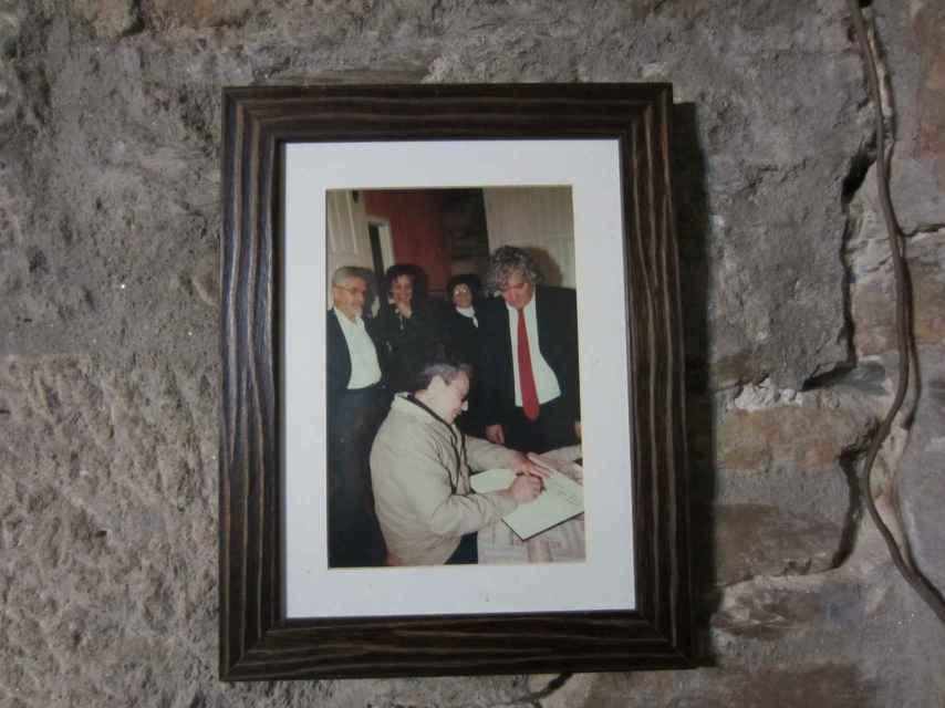 Raúl Castro en su visita a Láncara en el año 2005.