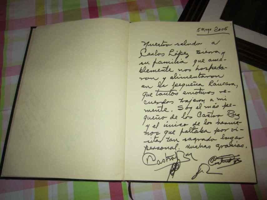 La carta de Raúl Castro a los habitantes del pueblo de su padre tras su visita en 2005.