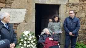 Manuela Argiz acudió al homenaje a su primo celebrado en la casa familiar de la localidad lucense.