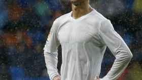 Cristiano Ronaldo durante el encuentro ante el Sporting de Gijón.