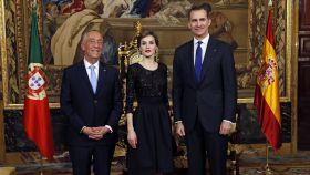 Los reyes junto al presidente de Portugal, Marcelo Rebelo de Sousa