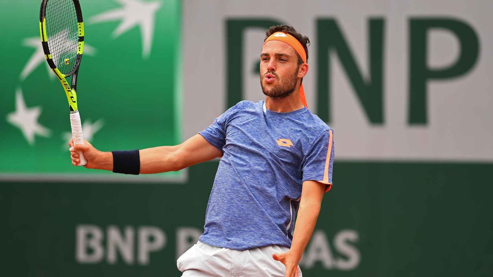Marco Cecchinato en el último Roland Garros.