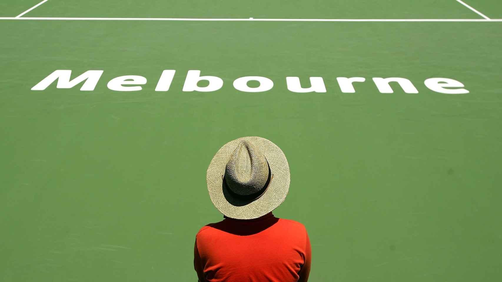 Juez de silla en un Open de Australia.