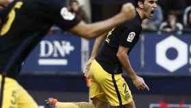 Godín celebra su gol contra Osasuna.