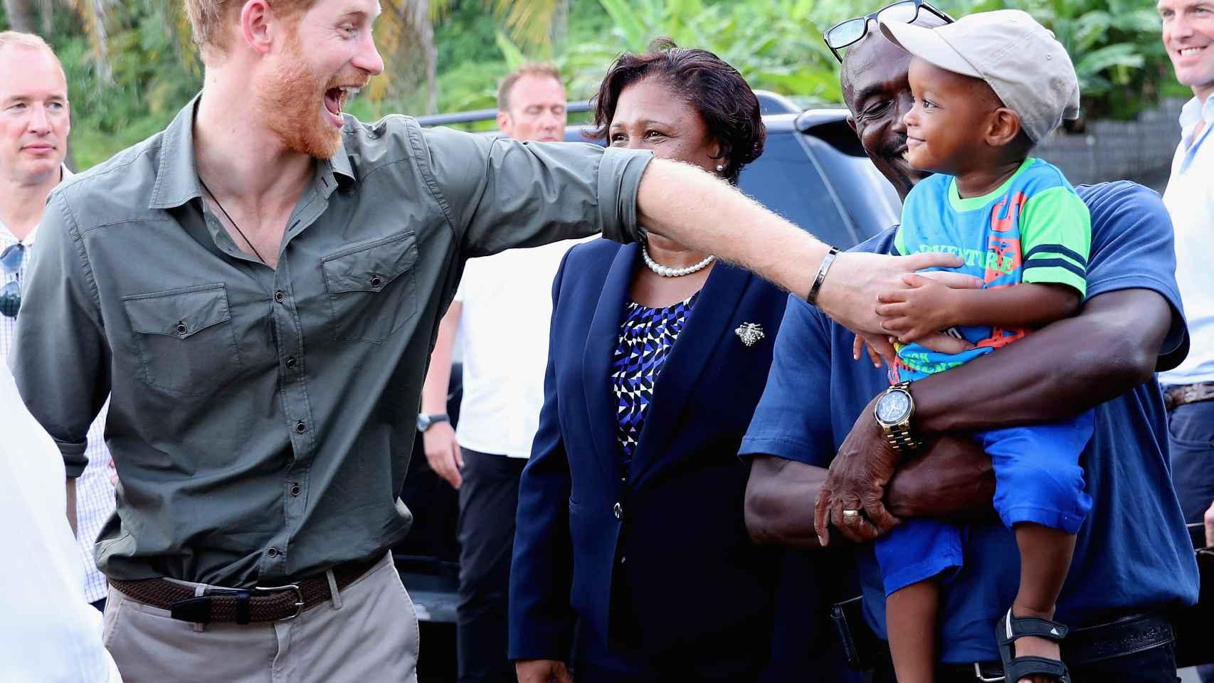 El príncipe Harry, este fin de semana en un viaje oficial por el Caribe.