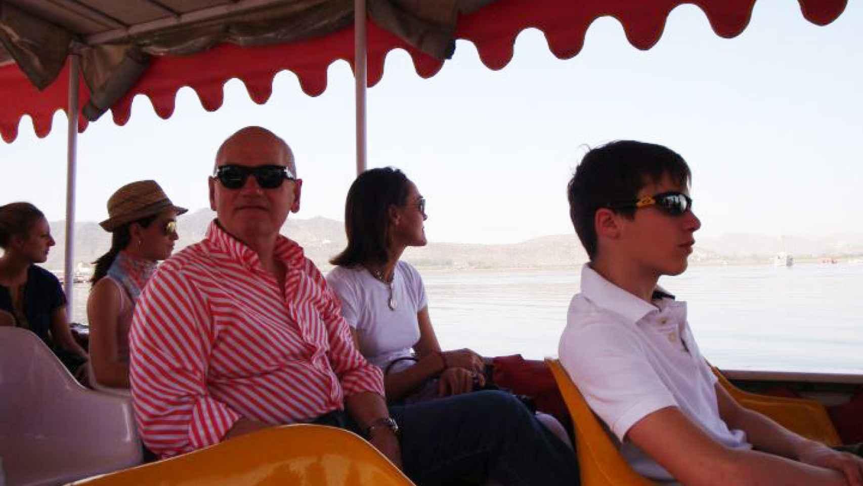 Daurella y Vilarrubí, en un viaje a la India hace unos años