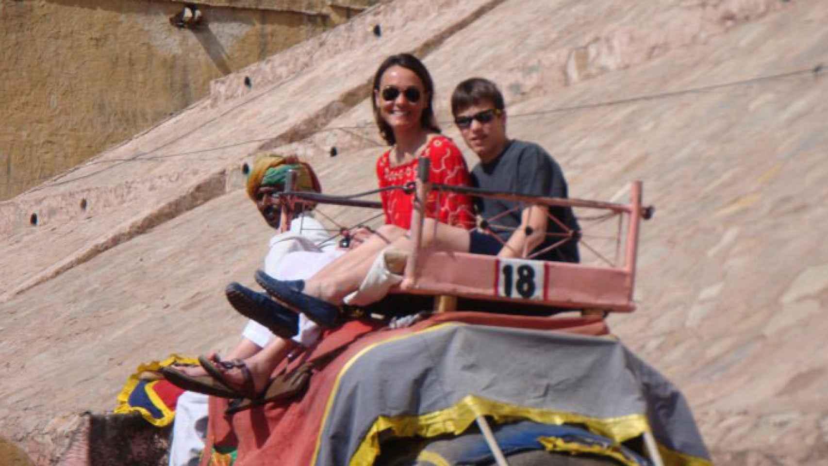 Con su hijo José, en una viaje hace unos años