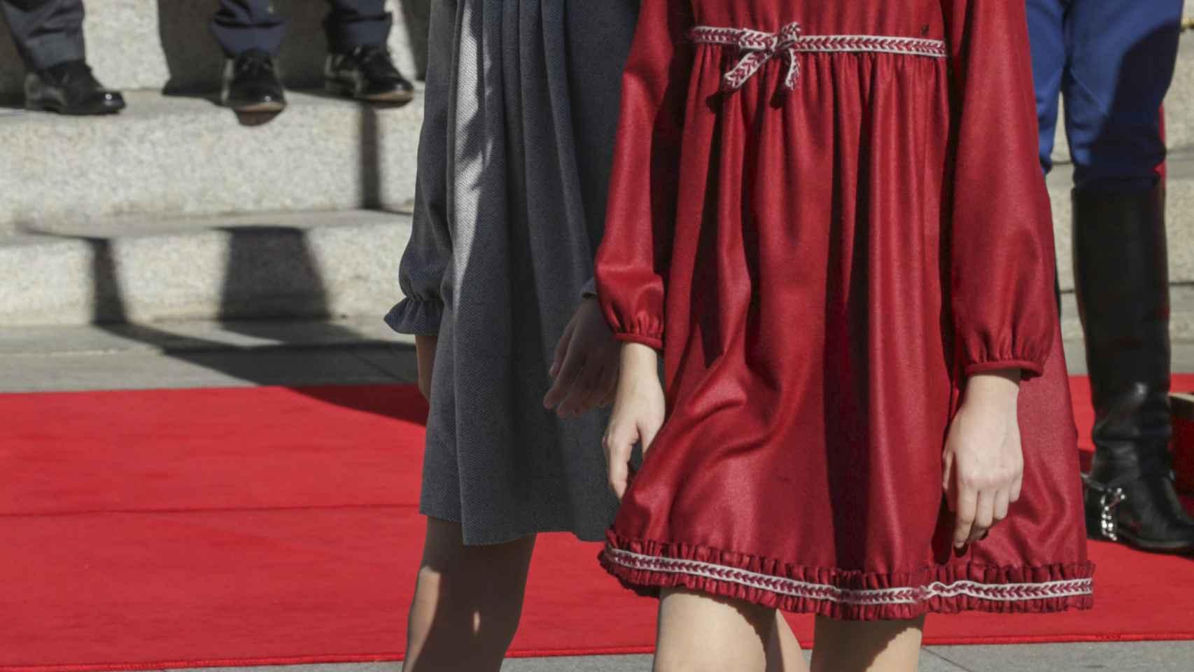 Las hijas de los reyes, durante la apertura de la legislatura el pasado 17 de noviembre.