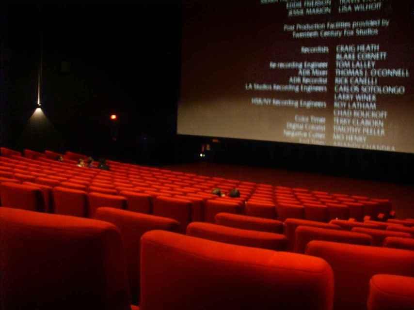 Interior de una sala de cine en España.