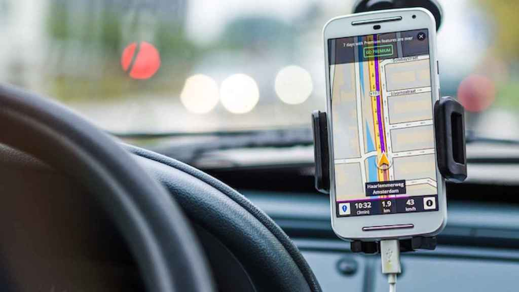 GPS en el móvil.