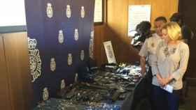Incautación en la primera fase de la operación contra la mafia georgiana realizada el pasado año.