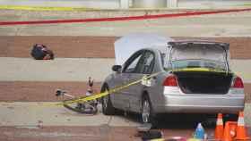 El coche usado por el atacante