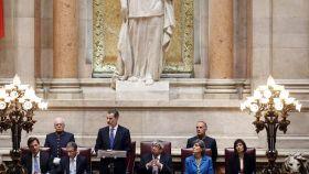 Felipe VI, en la Asamblea Nacional de Portugal.