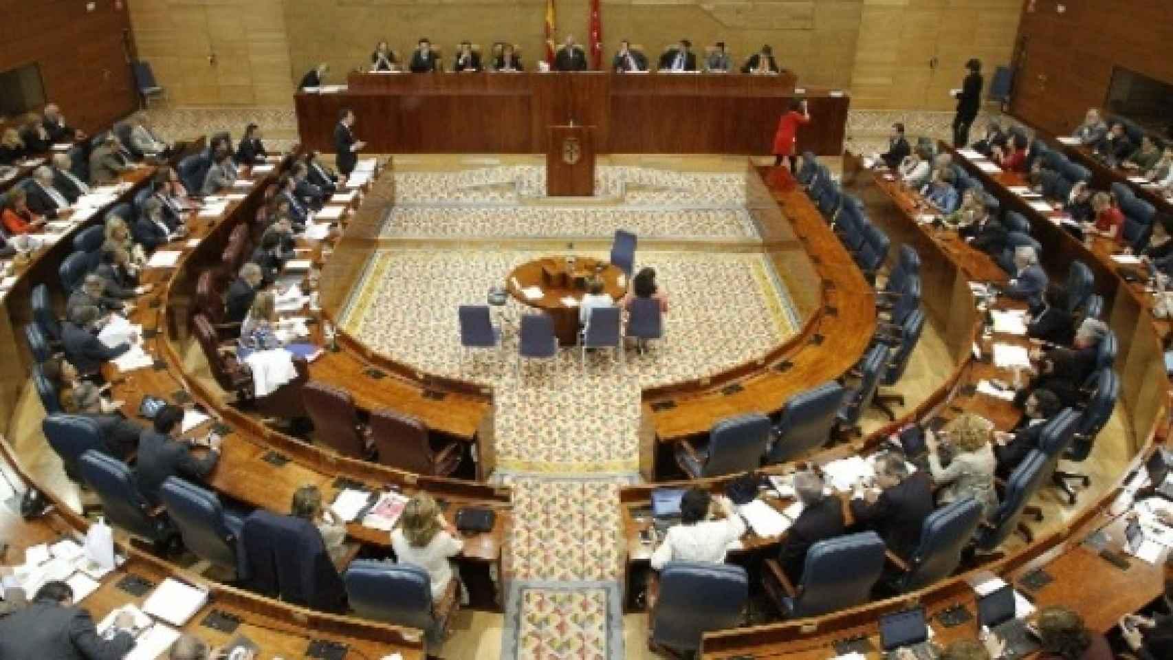 Imagen del hemiciclo de la Asamblea de Madrid