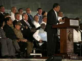 Correa, durante su intervención en el homenaje a Castro en La Habana.