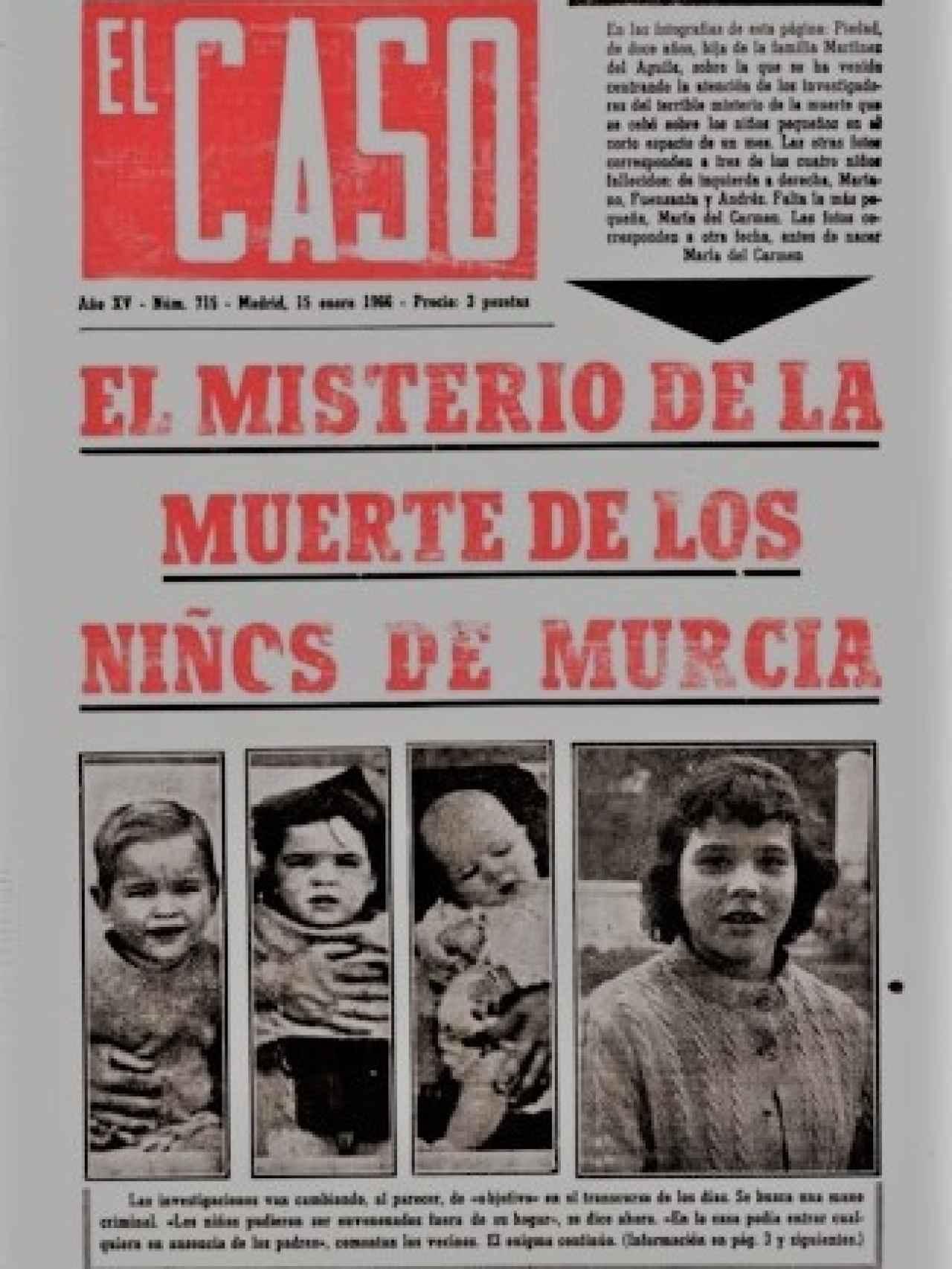 El semanario El Caso vio un buen filón con esta historia de muerte en familia.