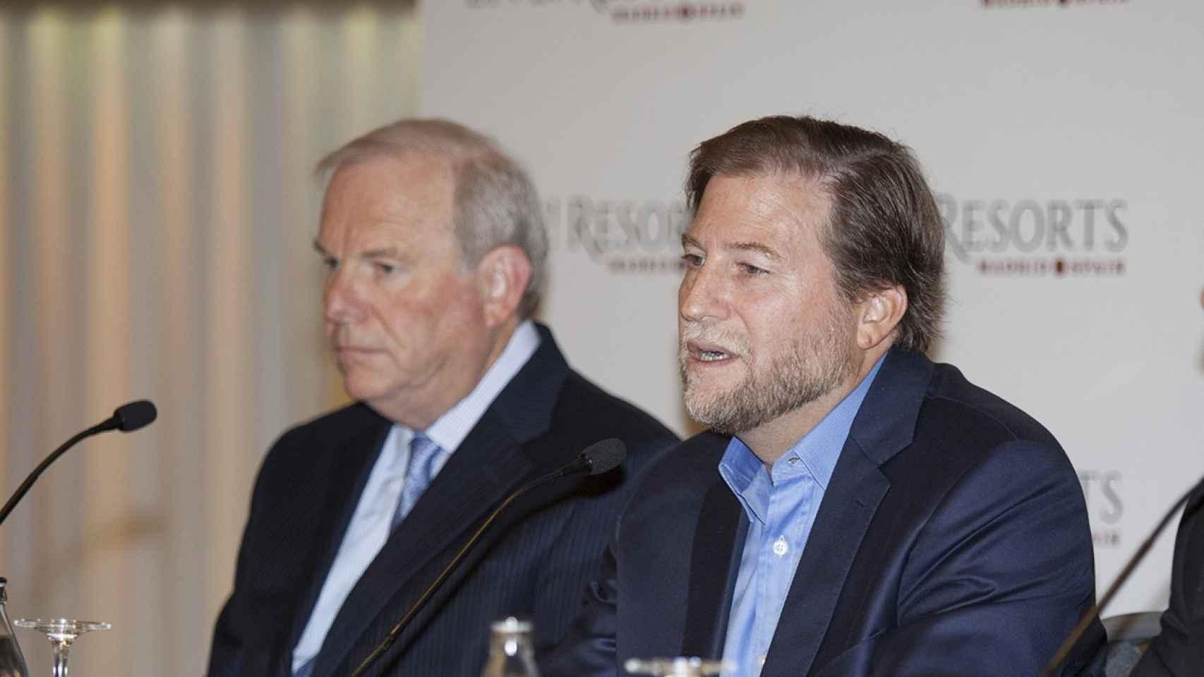 Abe Rosenthal, vicepresidente de desarrollo del grupo, junto al CEO, Joseph Weinberg.
