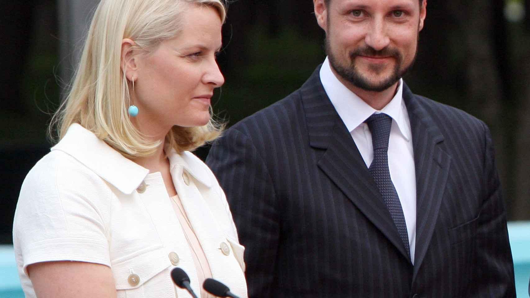 Haakon y Mette Marit, durante su viaje a México en 2009.