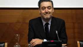 Miguel Zugaza durante la rueda de prensa de su despedida.