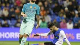 Paco Alcácer se lamenta de una ocasión fallada.