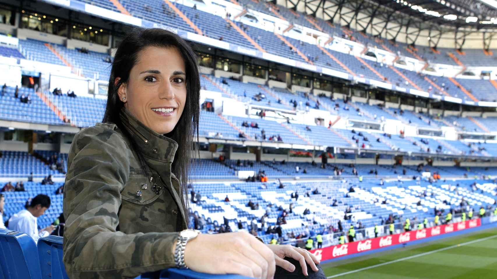 Ana Rossell, CEO de AR10, en el Bernabéu.