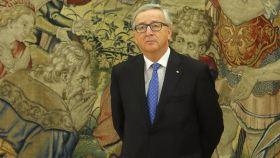 Jean-Claude Juncker, en La Zarzuela donde fue recibido el jueves por el rey Felipe VI.