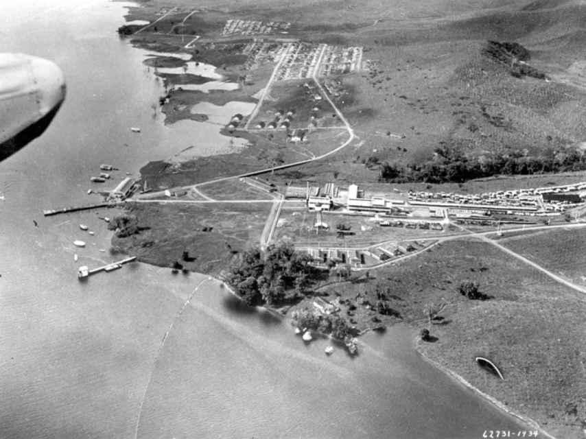 Vista aérea de Fordlandia en su momento de mayor esplendor.