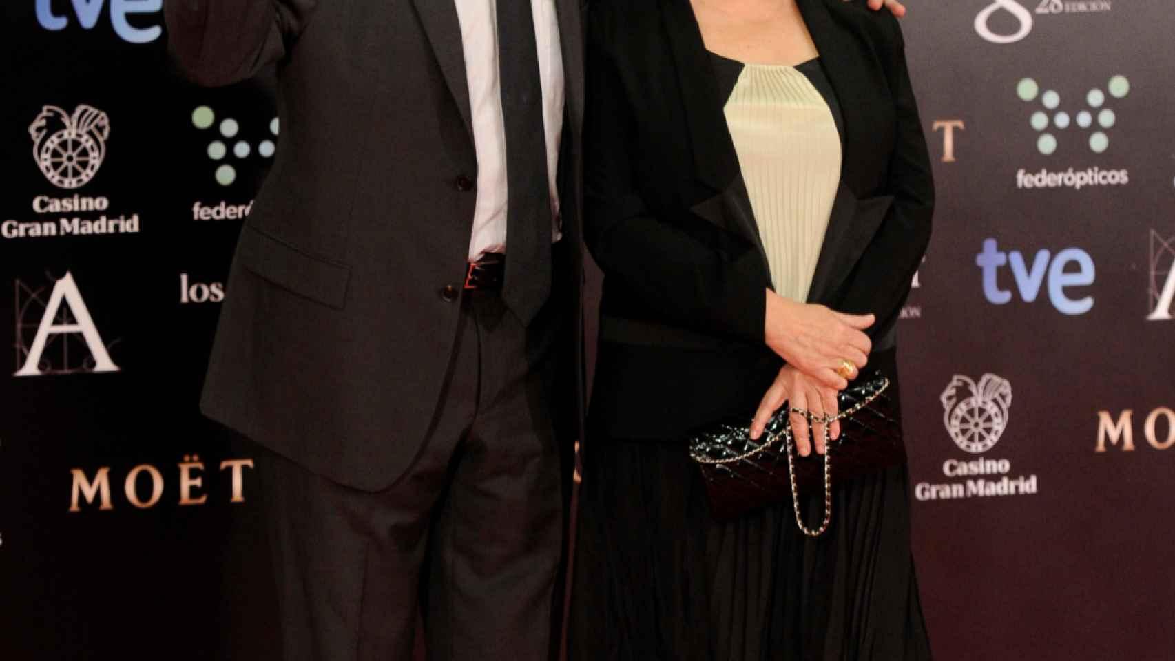 Fernando Trueba y Cristina Huete en una gala de los Goya.