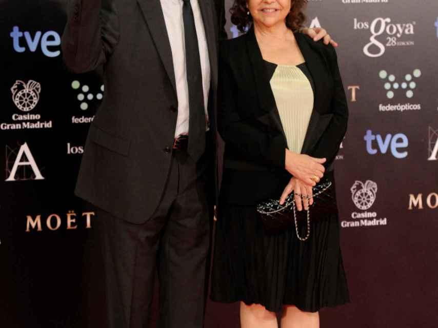 Fernando Trueba y Cristina Huete durante una edición de los premios Goya.