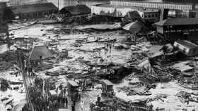 Imagen de la inundación provocada por la explosión.