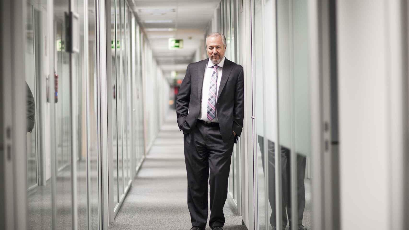Vaughan, en la sede central de su empresa en la calle Orense. Jorge Barreno
