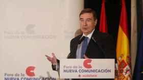 Pedro J. Ramírez durante su intervención