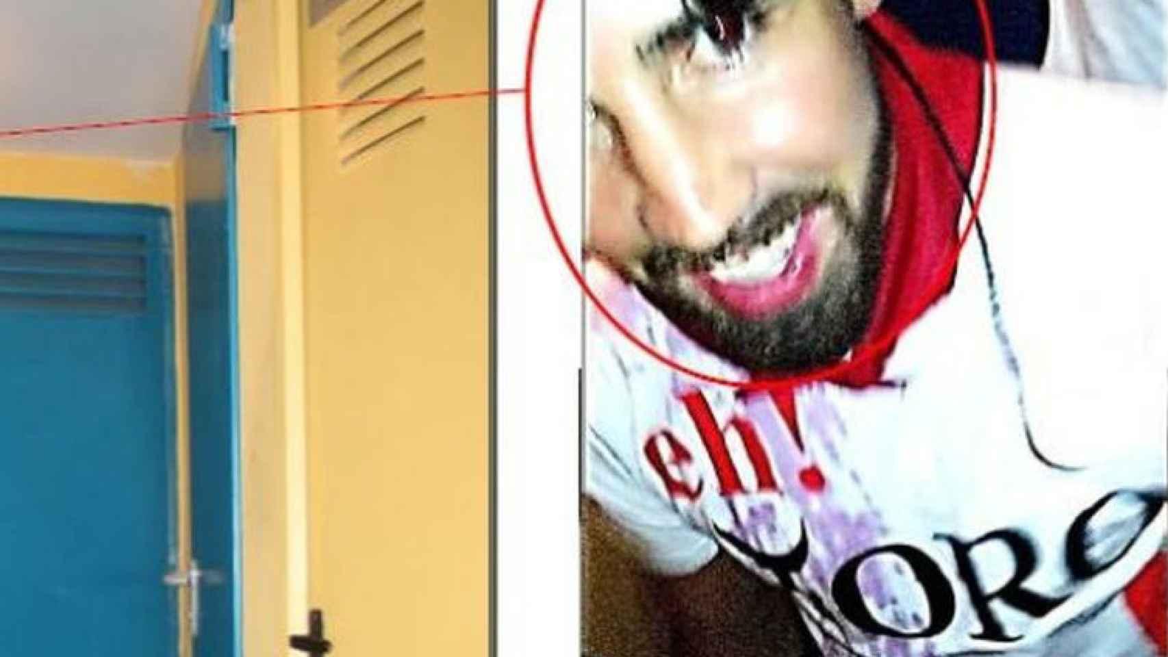 Detalle de uno de los vídeos grabados en el portal de Pamplona en el que se reconoce a Jesús Escudero.