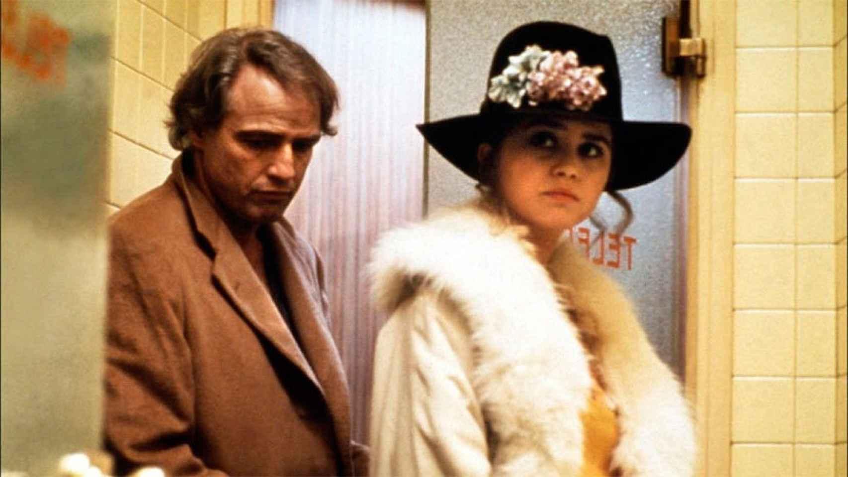 Brando tenía 49 años y Schneider sólo 19 durante el rodaje de la película