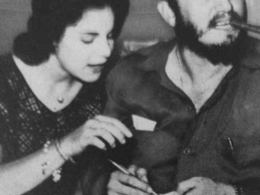 Marita Lorenz y Fidel en La Habana