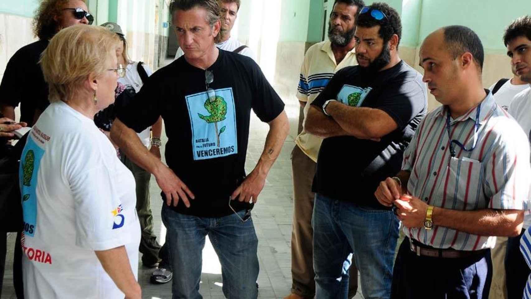 Sean Penn durante una visita a Cuba