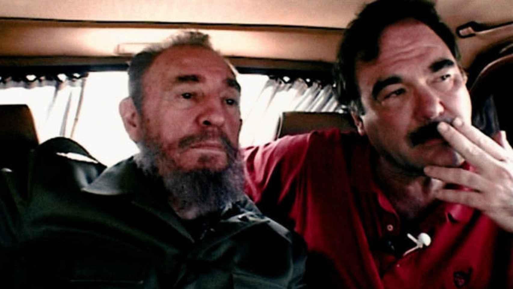 Fidel Castro con Oliver Stone