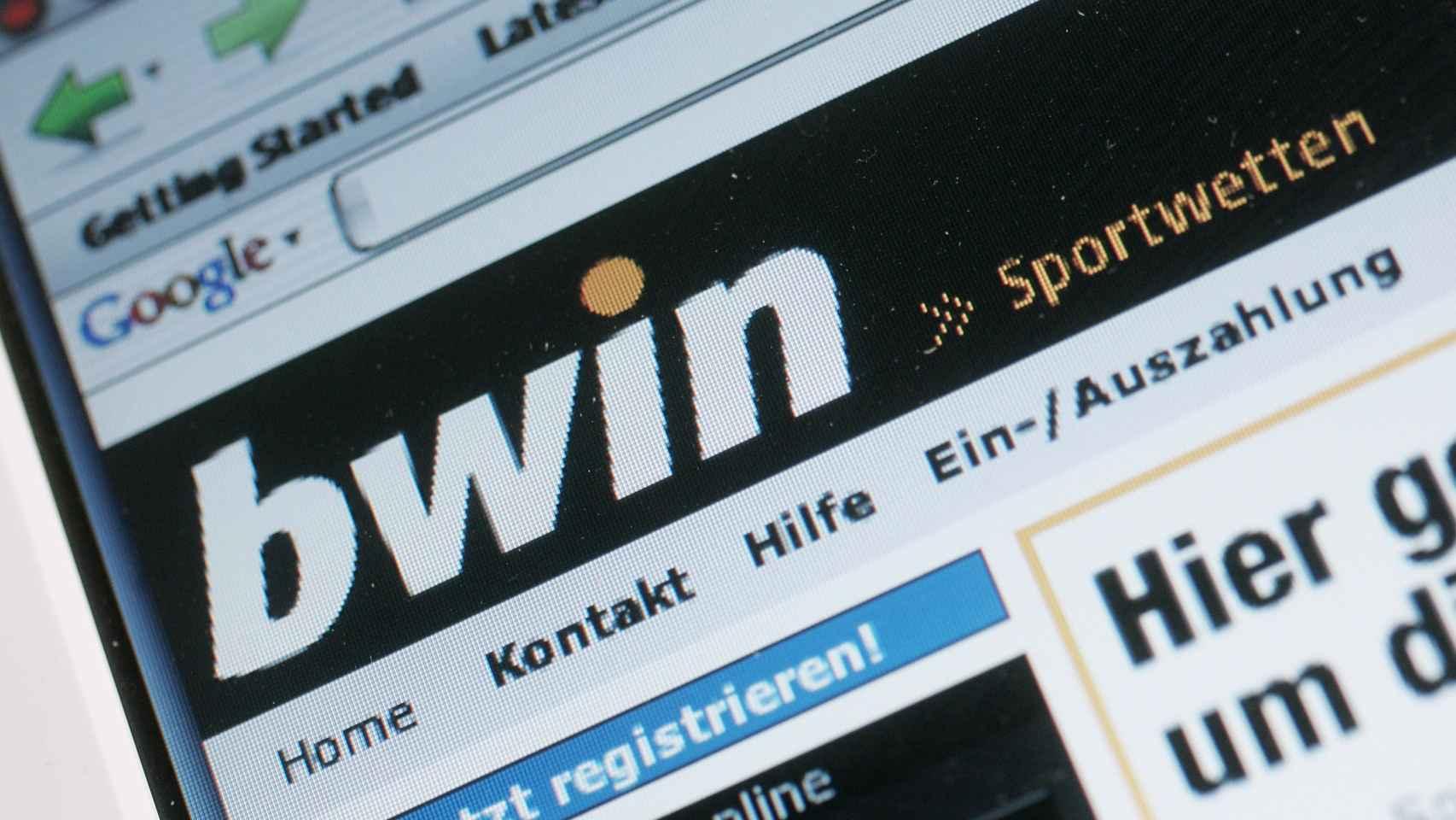Portal alemán de la casa de apuestas Bwin.