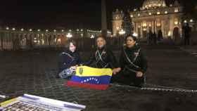 Momento de la reivindicación en Roma.