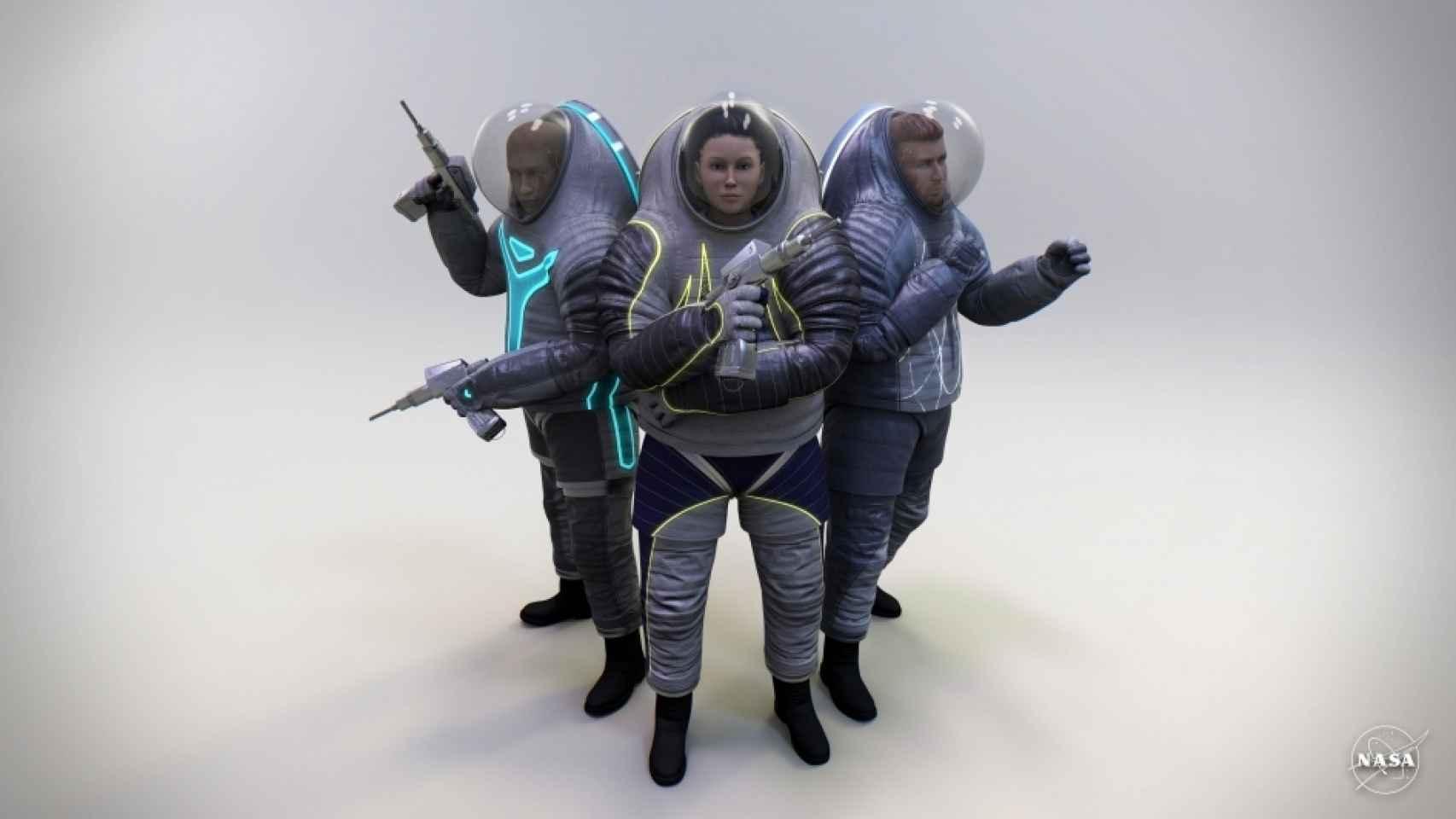 Prototipo de nuevo traje espacial.