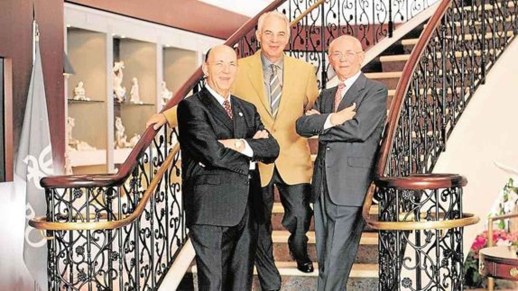 Los tres hermanos, presidentes fundadores de Lladró, que estos días vive sus horas más bajas.