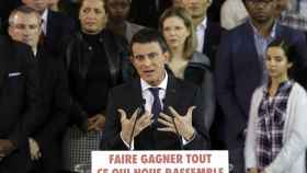 Valls, durante su alocución.
