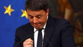 Renzi, durante su alocución tras el referendo.