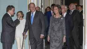 Los reyes eméritos juntos este lunes en la inauguración de la exposición sobre la figura de Carlos III