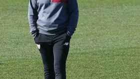 Sampaoli durante un entrenamiento de Sevilla.