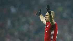 Robben, durante el partido en el Allianz Arena frente al Atlético.