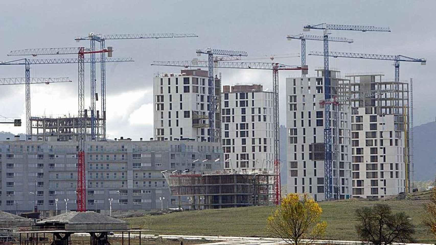 Imagen de viviendas en construcción.