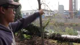 El activista Da Shi lucha contra la contaminación en China.